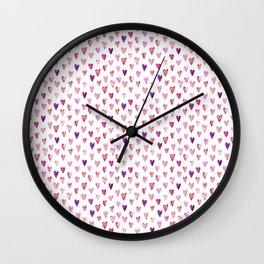 Color Heart Wall Clock