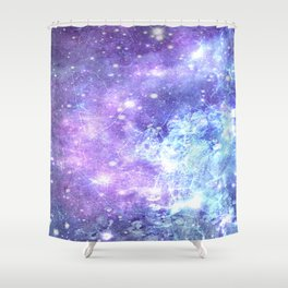 Grunge Galaxy Lavender Periwinkle Blue Shower Curtain