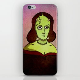 Prophets of Fiction - Mary Shelley /Frankenstein iPhone Skin