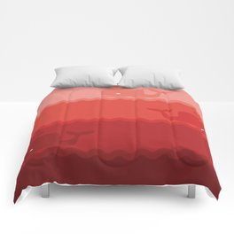 red whale Comforters