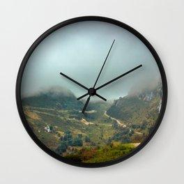Peaks of Europe Wall Clock