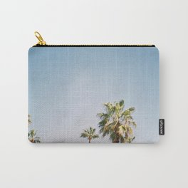 Palmtrees in Barcelona Europe | Blue Sky, Green Palm Trees Tropical vibe Carry-All Pouch