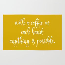 Coffee Quotes Rug