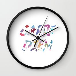 Carpe Diem Color Ink Wall Clock