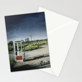 Lonely Mojave Desert Pay Phone Booth Stationery Cards
