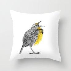 Eastern meadowlark Throw Pillow