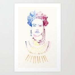 watercolor woman Art Print