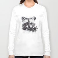 racoon Long Sleeve T-shirts featuring Racoon by Faustine BLESSON