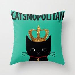 CATSMOPOLITAN Throw Pillow