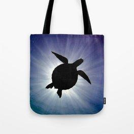 Sea Turtle Eclipse Tote Bag