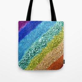 Rainbow Glitter Tote Bag