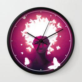 Luminescent Fuchsia Wall Clock