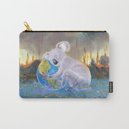 Koala Loves Earth - Australian Surreal Climate Change  Carry-All Pouch
