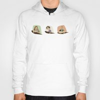 the big lebowski Hoodies featuring Big Lebowski Conversation Triptych by Mutant Ninja