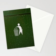 Trash - Put here please! Stationery Cards
