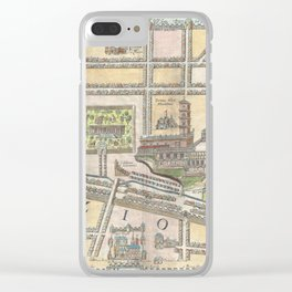 Old 1650 Historic State of Palestine Jerusalem Zion Map Clear iPhone Case