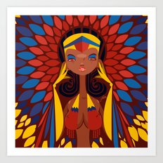 FIFA 2014 Samba Girls Series: Colombia Art Print