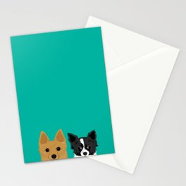 Pippen & Sooty - Teal Stationery Cards