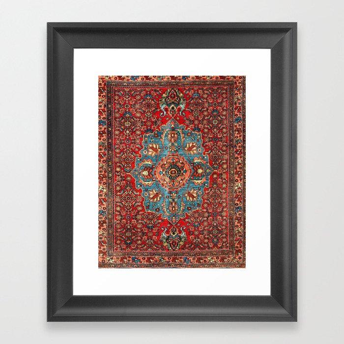 Bidjar Antique Kurdish Northwest Persian Rug Print Gerahmter Kunstdruck
