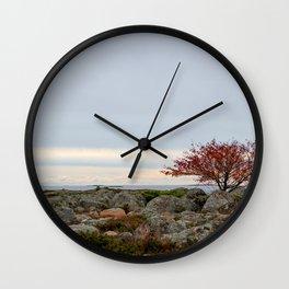 Rowan of a bare rugged island Wall Clock