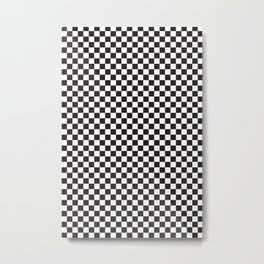 Classic Checkerboard Pattern Metal Print