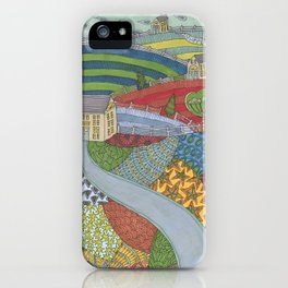island patchwork iPhone Case