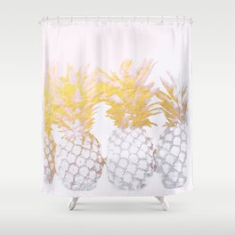 Golden pineapples Shower Curtain