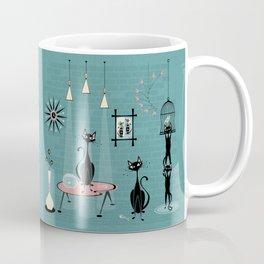 Mid Century Kitty Mischief - ©studioxtine Coffee Mug