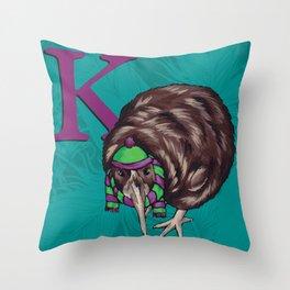 Alphabetical Birds: K Throw Pillow