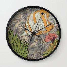 FISH CORAL TEXTURE Wall Clock