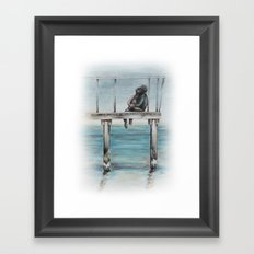 Do You Remember We Were Sitting There Framed Art Print