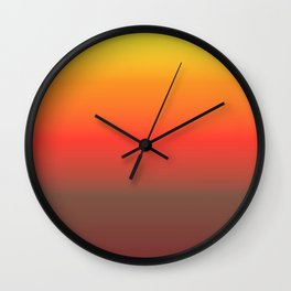 The Day is Ending Wall Clock