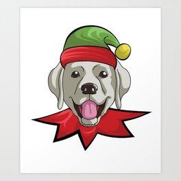 elfdog labrador Art Print
