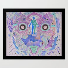 Journey of The Wounded Healer (After Alex Grey) Art Print