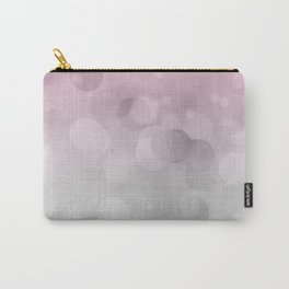 Pink  Grey Soft Gradient Bokeh Lights Carry-All Pouch