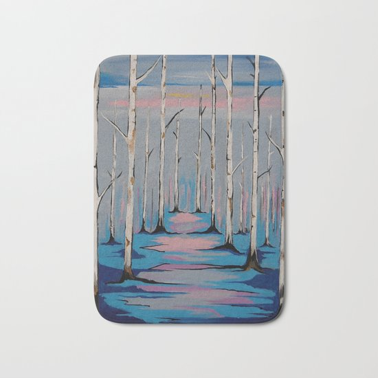 Nature and the Blues Bath Mat