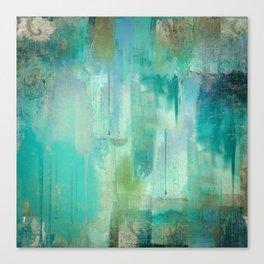 Aqua Circumstance Canvas Print