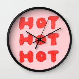 Hot Hot Hot Wall Clock