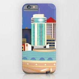 Wichita, Kansas - Skyline Illustration by Loose Petals iPhone Case