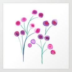 lady blooms Art Print