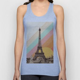 Rainbow Sky Above The Eiffel Tower Unisex Tank Top
