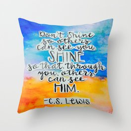 C.S. Lewis Throw Pillow