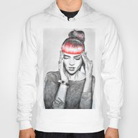 grimes Hoodies featuring Grimes by Eric Magnussen