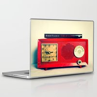 radio Laptop & iPad Skins featuring Red Radio by Squint Photography