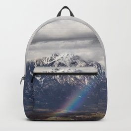 Rainbow and mountains after the storm Backpack