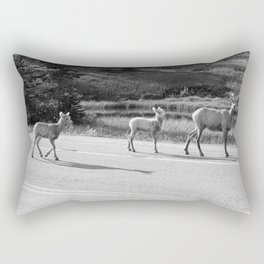 Mom and the Kids-B&W Rectangular Pillow