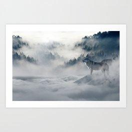 Wolves loup 2 Art Print
