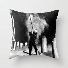 Lightning Rod Impales The Soul  Throw Pillow
