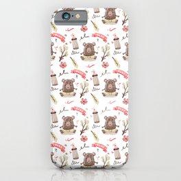 Cute Baby Pattern Bear Design. iPhone Case