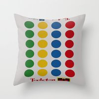 games Throw Pillows featuring Bed Games by Beastie Toyz